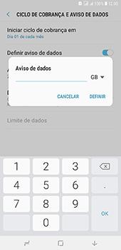 Samsung Galaxy J8 - Rede móvel - Como definir um aviso e limite de uso de dados - Etapa 11