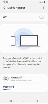 Samsung Galaxy A40 - Internet - Set up mobile hotspot - Step 7
