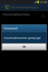 Samsung S6310 Galaxy Young - Voicemail - handmatig instellen - Stap 10