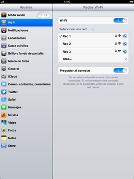 Apple iPad 2 - WiFi - Conectarse a una red WiFi - Paso 7