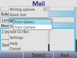 Nokia Asha 210 - Email - Sending an email message - Step 14