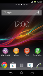 Sony C1905 Xperia M - Internet - Populaire sites - Stap 1