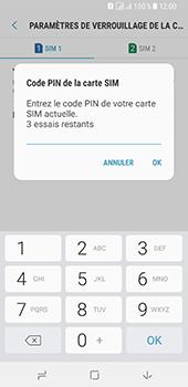 Samsung Galaxy A8 - Sécuriser votre mobile - Personnaliser le code PIN de votre carte SIM - Étape 9
