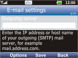 LG C360 Golf - Email - Manual configuration POP3 with SMTP verification - Step 7