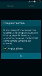Samsung Galaxy Alpha - Contact, Appels, SMS/MMS - Ajouter un contact - Étape 6