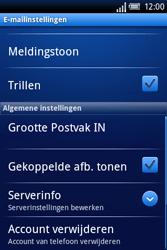Sony Ericsson Xperia X8 - E-mail - Handmatig instellen - Stap 12