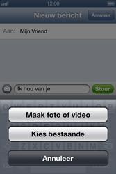 Apple iPhone 4 met iOS 6 - MMS - afbeeldingen verzenden - Stap 8