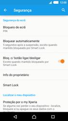 Sony Xperia M4 Aqua - Segurança - Como ativar o código de bloqueio do ecrã -  12
