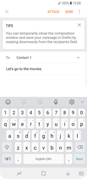 Samsung Galaxy S9 - E-mail - Sending emails - Step 10