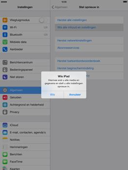 Apple iPad Mini Retina met iOS 7 - Instellingen aanpassen - Fabrieksinstellingen terugzetten - Stap 6