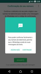 Sony Xperia XZ - Android Nougat - Aplicações - Como configurar o WhatsApp -  11