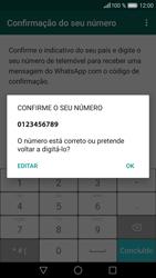 Huawei P9 Lite - Aplicações - Como configurar o WhatsApp -  8