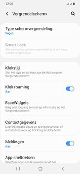 Samsung Galaxy A20e - Beveiliging en privacy - automatische schermblokkering instellen - Stap 5