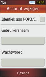 Samsung S5230 Star - E-mail - e-mail instellen: POP3 - Stap 14