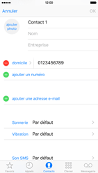 Apple iPhone 6s - Contact, Appels, SMS/MMS - Ajouter un contact - Étape 11