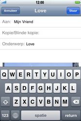 Apple iPhone 4 met iOS 5 - E-mail - Hoe te versturen - Stap 9