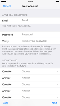 Apple Apple iPhone 6 Plus iOS 10 - Applications - Create an account - Step 12