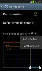 Samsung i8260 Galaxy Core - Internet - Ver uso de datos - Paso 6