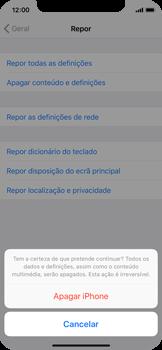 Apple iPhone X - Repor definições - Repor definições de fábrica do telemóvel -  8