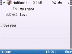 Nokia E5-00 - Mms - Sending a picture message - Step 10