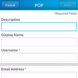 BlackBerry Q5 - Email - Manual configuration - Step 8