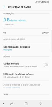 Samsung Galaxy S8 - Android Oreo - Internet no telemóvel - Como ativar os dados móveis -  6