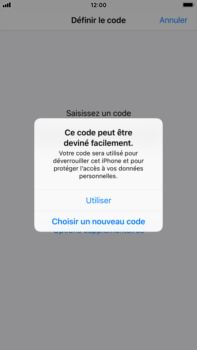 Apple iPhone 8 Plus - Sécuriser votre mobile - Activer le code de verrouillage - Étape 6