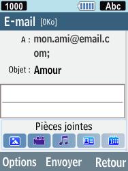 Samsung C3590 - E-mails - Envoyer un e-mail - Étape 7