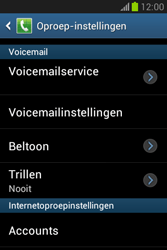 Samsung S6790 Galaxy Fame Lite - Voicemail - handmatig instellen - Stap 7