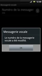 Sony Ericsson Xperia Arc - Messagerie vocale - configuration manuelle - Étape 9