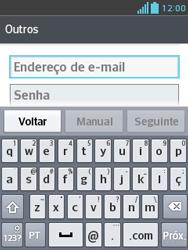 LG E430 Optimus L3 II - Email - Como configurar seu celular para receber e enviar e-mails - Etapa 6