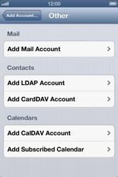 Apple iPhone 4 S iOS 6 - Email - Manual configuration - Step 6
