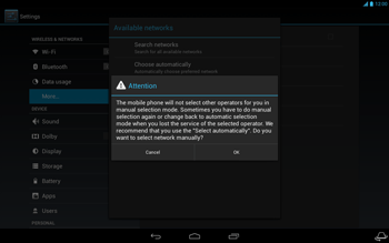 Acer Iconia Tab A3 - Network - Usage across the border - Step 8