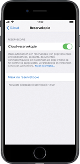 Apple iPhone 7 iOS 11 - Instellingen aanpassen - Back-up maken in je account - Stap 12