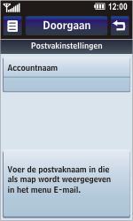 LG KM900 Arena - E-mail - Handmatig instellen - Stap 17