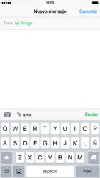 Apple iPhone 6 iOS 8 - Mensajería - Escribir y enviar un mensaje multimedia - Paso 8
