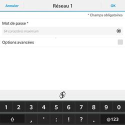BlackBerry Passport - WiFi et Bluetooth - Configuration manuelle - Étape 8