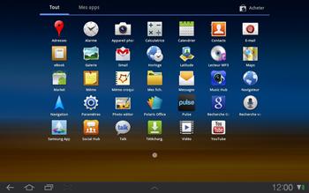 Samsung P7500 Galaxy Tab 10-1 - Wifi - configuration manuelle - Étape 2