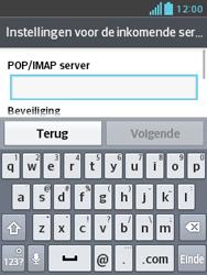 LG E430 Optimus L3 II - E-mail - e-mail instellen: IMAP (aanbevolen) - Stap 10