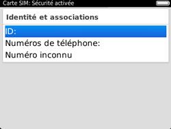 BlackBerry 9320 - Sécuriser votre mobile - Personnaliser le code PIN de votre carte SIM - Étape 7