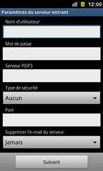 Samsung I9100 Galaxy S II - E-mail - Configuration manuelle - Étape 7