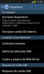 Samsung Galaxy Grand Neo - Segurança - Como ativar o código PIN do cartão de telemóvel -  6