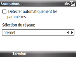 HTC S521 Snap - Internet - Configuration manuelle - Étape 15