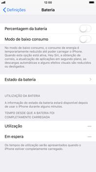 Apple iPhone 7 Plus iOS 11 - Bateria - Como desativar a gestão de desempenho -  4