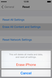 Apple iPhone 4 S iOS 7 - Device - Factory reset - Step 7