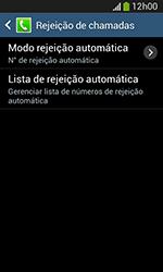 Samsung Galaxy Grand Neo - Chamadas - Como bloquear chamadas de um número específico - Etapa 7
