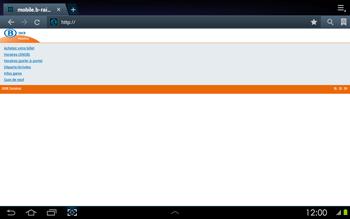 Samsung P5100 Galaxy Tab 2 10-1 - Internet - navigation sur Internet - Étape 12