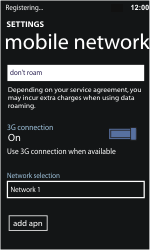 Nokia Lumia 710 - Network - Usage across the border - Step 10