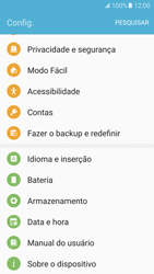 Samsung Galaxy S7 - Primeiros passos - Como encontrar o número de IMEI do seu aparelho - Etapa 4
