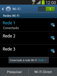 Samsung S5310B Galaxy Pocket Neo - Wi-Fi - Como configurar uma rede wi fi - Etapa 8